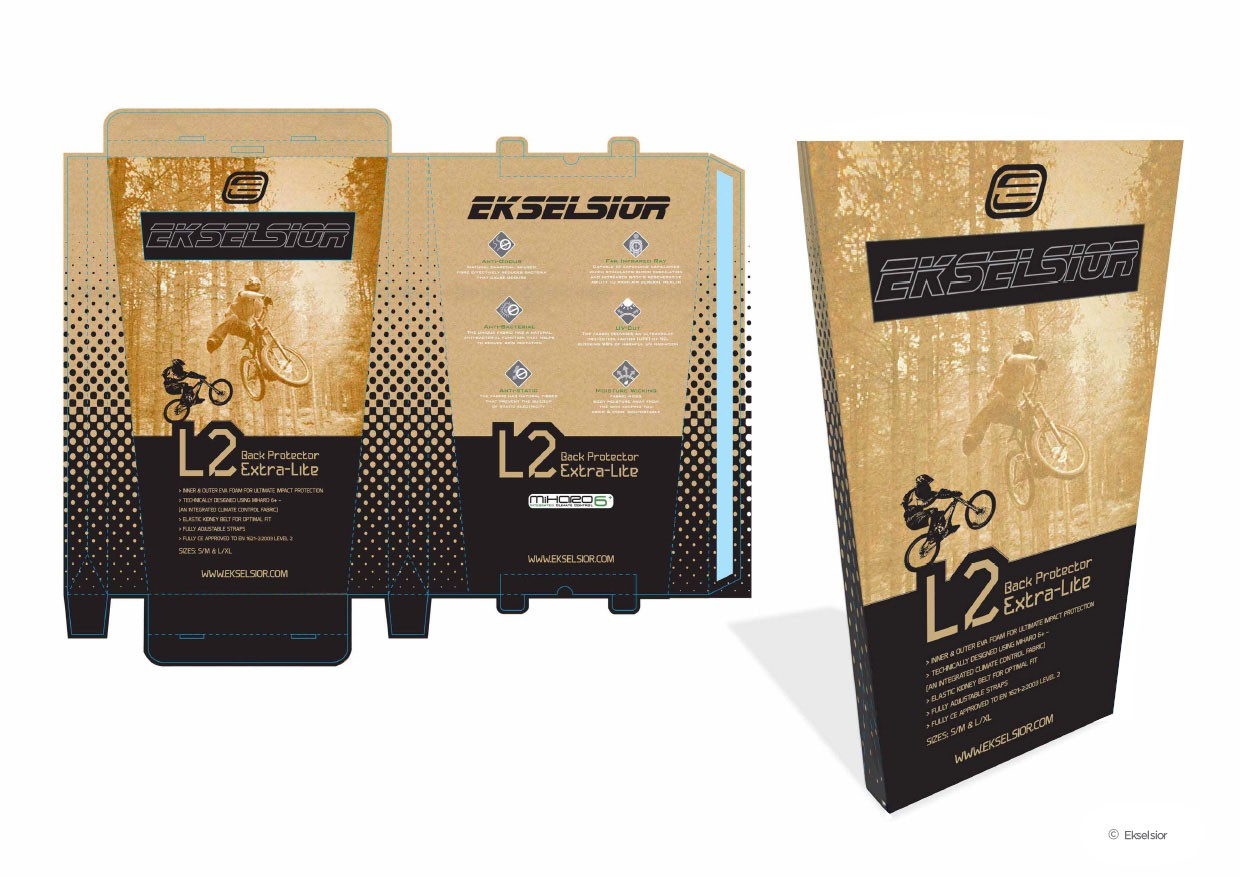 Ekselsior | Body Armour, Packaging Design & Structure